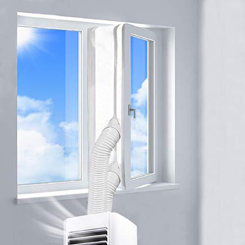 REDTRON Fensterabdichtung für Mobile Klimageräte, Klimaanlagen, Wäschetrockner und Ablufttrockner   AirLock zum Anbringen an Fenster, Dachfenster, Flügelfenster   Fensterabdichtung Klimaanlage 400CM