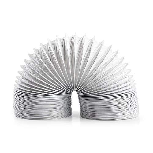 NEDIS Abluftschlauch PVC | 127 mm | 6.00 m | passend für: Air Ventilation/Tumble Dryers | Weiss 6.00 m Weiss