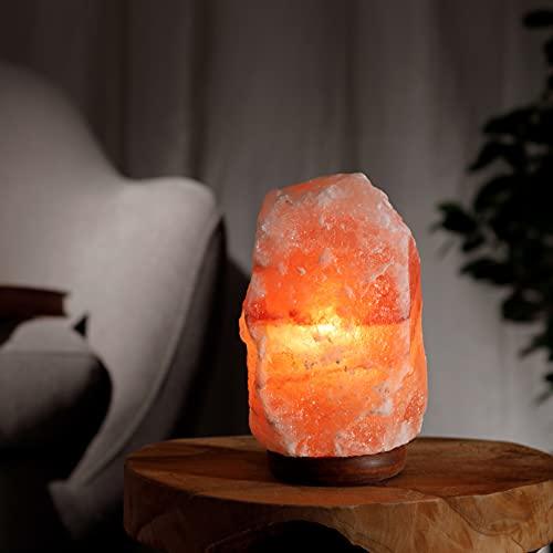 Salzkristalllampe aus der Salt Range Pakistan Salzlampe mit E14 Fassung Kristall Lampe Salt Lamp Himalaya Salzlampe Steinlampe Nachtlicht Salzkristall Licht 2-3 Kg Energieklasse E