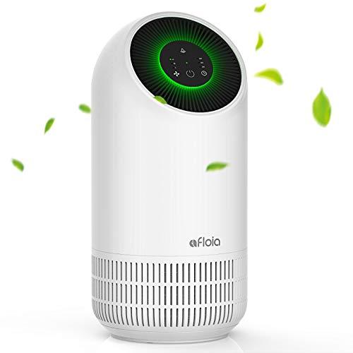 Luftreiniger Afloia Fillo H13 HEPA Air Purifier, CARD 100m³ / h, entfernen 99,97% Rauch Staub Pollen, 4 Geschwindigkeiten, 3-Stufen-Filtration, 24dB, 3-Timing, LED Nachtlicht für Allergiker, Raucher