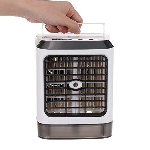 Mobiler Luftkühler Mini Tragbare Klimaanlage 7 Farben Led Klimaanlage Luftbefeuchter Luftreiniger Usb Desktop Luftkühler Lüfter Fernbedienung