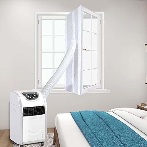 HOUT® Fensterabdichtung für mobile Klimageräte, Klimaanlagen, Wäschetrockner,Ablufttrockner | Hot Air Stop zum Anbringen an Fenster, Dachfenster, Flügelfenster und Kippfenster | für Klimaanlage 400CM