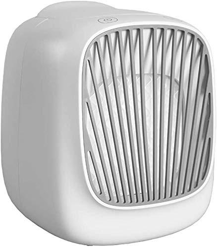 Tragbare Luftkühler Mobile Klimaanlage Mini-Luftreiniger Desktop-Lüfter Verdampfer Luftbefeuchter für Zuhause oder Büro,White