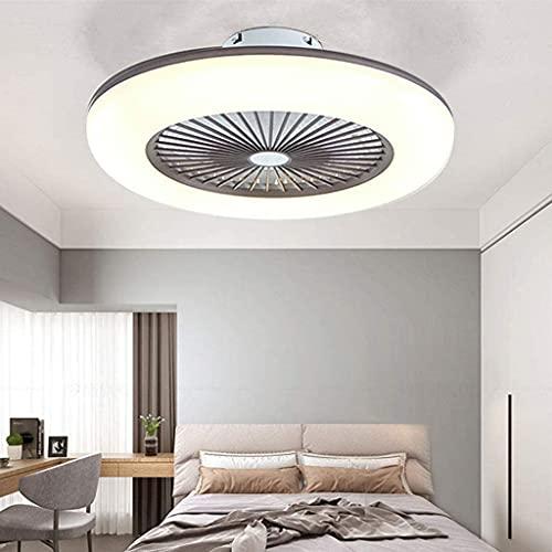 LED Deckenventilator Mit Beleuchtung Dimmbar Mit Fernbedienung Fan Licht Acryl Lampenschirm Moderne Metall Lampe Lüfter-Deckenleuchte Esszimmer Wohnzimmer Schlafzimmer Beleuchtung,Braun