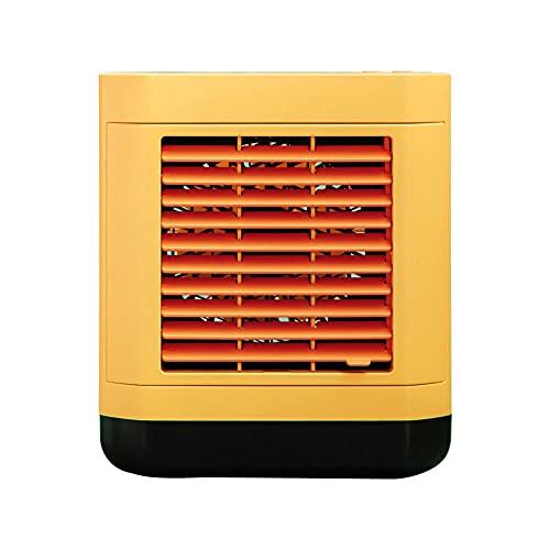 KWFFFF Mobile Klimagerät, Air Cooler Mini Luftbefeuchtung Ventilator, Negativ-Ionen-Luftkühler Klimaanlage Lüfter, Luftbefeuchter und Luftreiniger,-Gelb