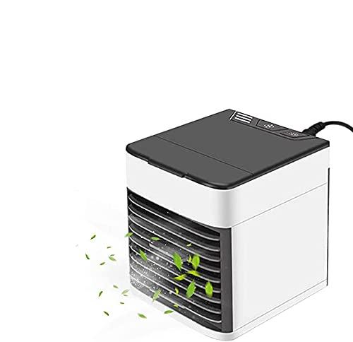 Mobile Klimageräte Mini Luftkühler Tragbare Klimaanlage Mobil Verdunstungskühler, Wasserkühlung Ventilator, 3 Geschwindigkeiten, 500ML Wassertank, Ideal für Zuhause, Büro und Auto