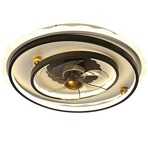 Esszimmer Deckenventilator Mit 3 Lampe,42W Dimmbar Ventilator Deckenleuchte Mit Fernbedienung,3 Geschwindigkeiten,Leise Invisible,50CM APP-Steuerung Lüfter Lampe Für Schlafzimmer