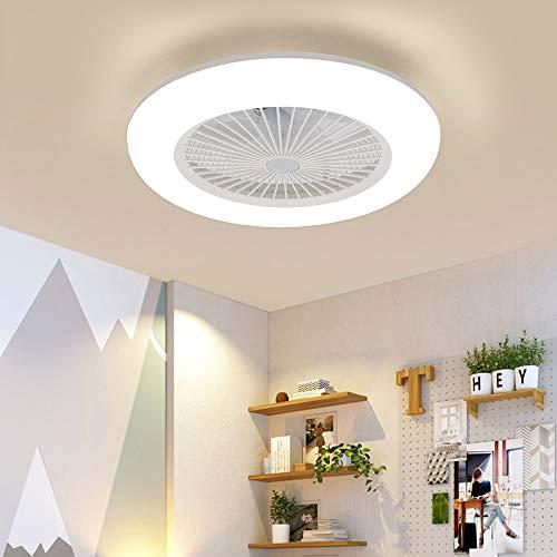YORKING Deckenventilator mit Beleuchtung Fan LED Licht Dimmbar Fernbedienung 36W für Schlafzimmer Wohnzimmer Esszimmer
