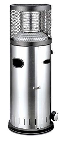 Enders® Terrassenheizer Gas POLO 2.0, Gas-Heizstrahler 5460, Terrassenstrahler mit stufenloser Regulierung, ENDUR Reflektionssystem, Transporträder, Umkippsicherung