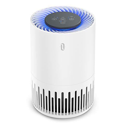 TaoTronics Luftreiniger TT-AP001 Air Purifier mit 3-in-1 HEPA Filter 4 Lüfterstufen 99,97% Filterleistung Leiser Betrieb gegen Staub Pollen Tierhaare White