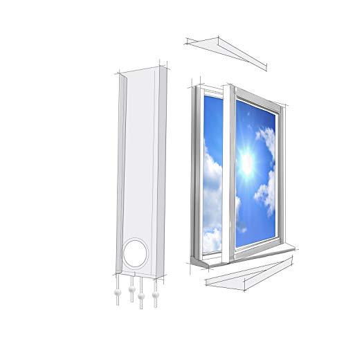 Lifetime Air Fensterabdichtung 320cm Für Mobile Klimageräte und Abluft-Wäschetrockner, Window Kit Universal passend für alle Schlauchgrößen, Wasserdicht, Winddicht