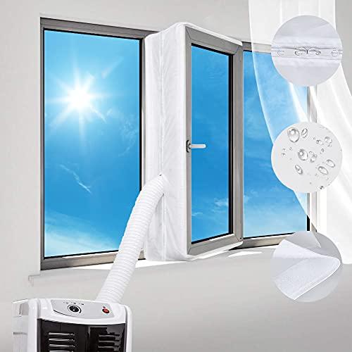 Fensterdichtung für Mobile Klimaanlagene Klimagerät Fensterabdichtung Dachfenster,Air Stop zum Anbringen an Fenster,Universal-Fensterdichtung für Klimaanlagen Wäschetrockner und Ablufttrockner