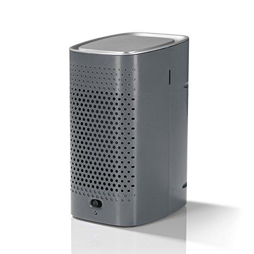 EASYmaxx Mini Klimagerät Klimaanlage | Luftkühler für angenehme Raumluft | Luftbefeuchter Ventilator Mini mit Wassertank | Aircooler mit Wasser [ Batteriebetrieben oder USB ]