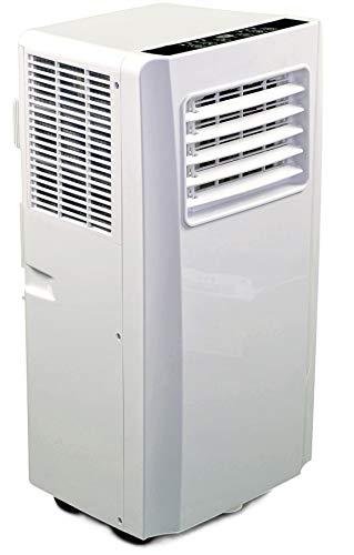 JUNG AIR TV05 mobiles Klimagerät mit Fernbedienung - TÜV geprüft - 3,2 KW/11000 BTU - STROMSPAREND, GERÄUSCHARM -100m³ Raum Kühlung, Klimaanlage mobil leise, weiß
