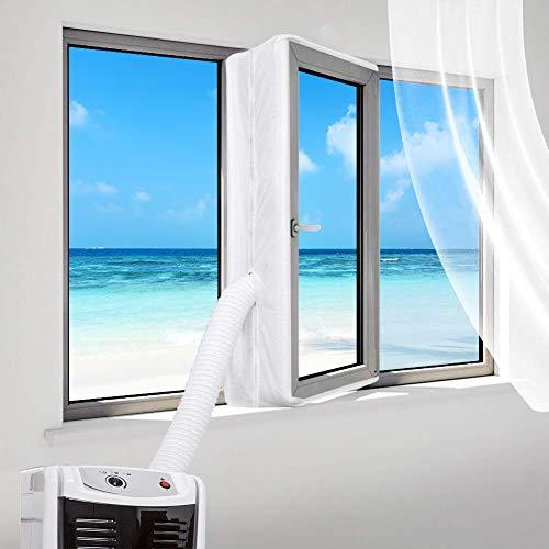 Fensterabdichtung für mobile Klimageräte, Klimaanlagen, Wäschetrockner, Ablufttrockner, 400CM Hot Air Stop zum Anbringen an Fenster, Universal-Fensterdichtung für Dachfenster, Klimaanlage (400CM-2)