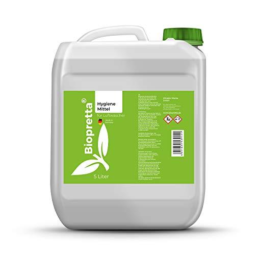 biopretta Hygienemittel für Luftwäscher, Luftbefeuchter, Zimmerbrunnen (5000ml)