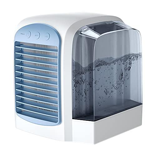 XTENG Tragbarer Klimaanlagen-Lüfter, Großer Wassertank Stummer Luftbefeuchter-Spray-Lüfter, Geeignet Für Zuhause, Büro, Schlafzimmer, Blau