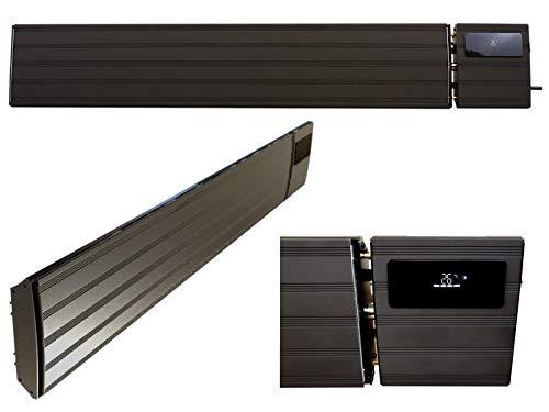 Komerci THG-26DS Infrarot Heizstrahler 2600W Wand- und Deckenheizstrahler IP44 Dunkelstrahler Wärmestrahler Heizung