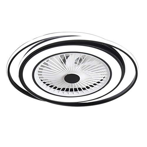 SBLIN 24-Zoll-Deckenventilator mit lichtmoderner LED-Fernbedienung Semi-Flush-Halterung Fandelier mit unsichtbaren Acrylklingen, 3 Farben 3 Geschwindigkeiten Wechseln, beiliegende Lüfterlampe mit nied