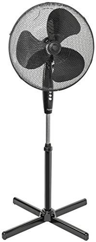 Bestron Standventilator mit Schwenkfunktion, Höhe: 122 cm, Ø 45 cm, 45 W, Schwarz