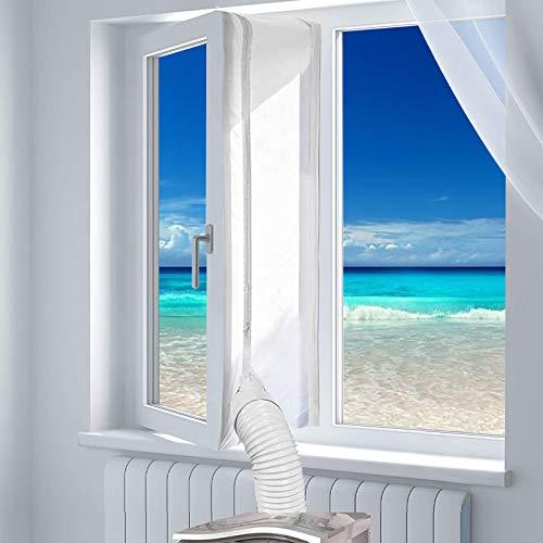 Fensterabdichtung Für Mobile Klimageräte,400CM Fensterabdichtung für Klimaanlagen,Abluft Wäschetrockner Anbringen an Fenster Flügelfenster Dachfenster Fensterabdichtung,Airlock 100
