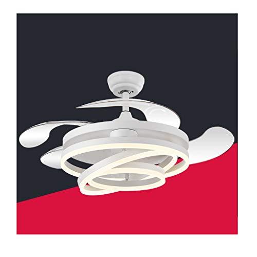 Deckenventilator Dekoration 42' Moderne Deckenventilator mit Farbwechsel Licht Fernbedienung LED Dimming Deckenventilator Licht for Esszimmer Schlafzimmer Ventilator-Licht Deckenventilators mit Licht