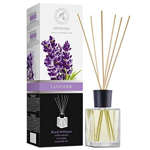 Raumduft Lavendel 500ml - Duftvase - Aromadiffusor - Lufterfrischer - Natürlicher Lavendel Duftdiffusor - Raumbeduftungsmittel - Lavendel Reed Diffuser mit Ätherischen Lavendel Öl - Lavendel Aroma