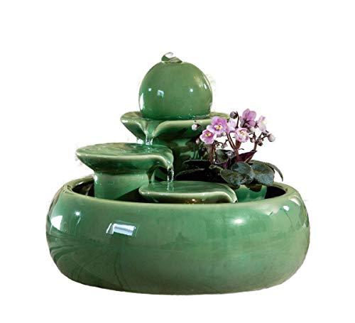 seliger Keramikbrunnen Trentino grün