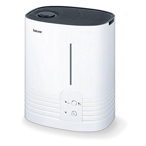 Beurer 686 LB 55 Luftbefeuchter, mit hygienischer Warmwasser-Verdampfungstechnologie, für Räume bis 50 m²