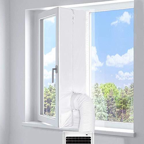 Fensterabdichtung klimagerät 300cm für mobile Klimageräte, Klimaanlagen, Wäschetrockner, Ablufttrockner | Hot Air Stop zum Anbringen an Fenster, Dachfenster, Flügelfenster