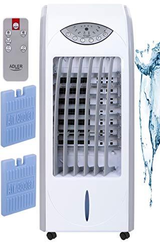3in1 Aircooler | Mobiles Klimagerät | Ventilator | Luftkühler | Mobile Klimaanlage | Standventilator | Klima Anlage Tragbar | Turmventilator | Abschaltautomatik | 350 Watt | Leiser Betrieb |