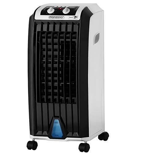Monzana Aircooler 4in1 5 L Tank Timer 3 Stufen Mobiles Klimagerät Luftkühler Ionisator Luftbefeuchter Ventilator