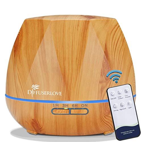 Diffuserlove Luftbefeuchter 550ML diffuser Aroma diffuser Trag usor Cool Mist Humidifier mit Fernbedienung,7 Farben LED und AUTO-Abschaltung Funktion,Perfekt für SPA, Massage, Yoga