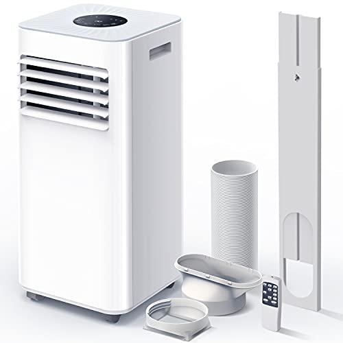Mobile Klimaanlage,9000 BTU 3-in-1-Tragbare Klimagerät, Luftentfeuchter,Kühlgebläse,mit Digitalanzeige&Fernbedienung,für Räume bis zu ca 20m²