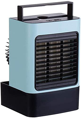 XXF-Shop Persönlicher Lüfter-Luftbefeuchter-Reiniger mit Fans Mobile Klimaanlagen Einheit für Home Office Outdoor (Color : Blue)