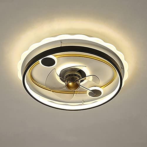 Deckenventilatoren Mit Beleuchtung, Dimmbar Mit Fernbedienung,3 Geschwindigkeiten,42W Esszimmer Leise Ventilator Deckenleuchte, APP-Steuerung Lüfter Lampe Für Schlafzimmer Wohnzimmer Büro