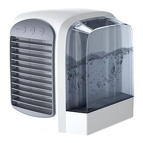 XTENG Tragbarer Klimaanlagen-Lüfter, Großer Wassertank Stummer Luftbefeuchter Spray-Lüfter, Geeignet Für Zuhause, Büro, Schlafzimmer, Grau