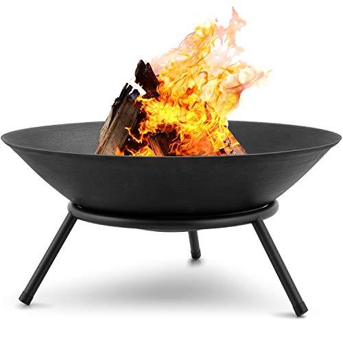 Amagabeli Feuerschalen für den Garten 57cm Feuerschalen & Feuerkörbe mit Stativ für Feuerstelle für Draußen Terrasse Garten Multifunktional Fire Pit für Heizung BBQ Camping Picknick
