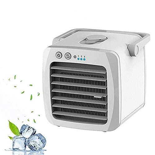 XPfj Mobiles Klimagerät Verdampfungskühler Tragbarer tragbarer Luftkühler, Mini-Klimaanlage Haushalts-Luftkühler, Luftbefeuchter mit USB, sehr geeignet für Zuhause, Büro-White-Zerstäuber