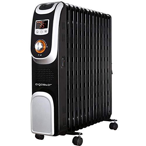 Ölradiator mit Fernbedienung Thermostat Timer 2500Watt Radiator Ölheizung Heizkörper Elektrisch 13 Rippen Led-Display Sicherheitsabschaltfunktion