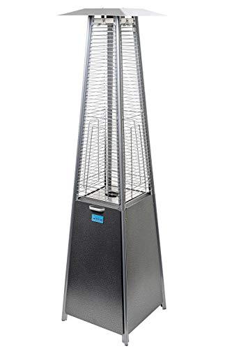 ACTIVA Terrassenheizstrahler Pyramide Cheops II Heizpilz Terrassenheizer, 9,3 KW Heizleistung, 190 cm, inkl. Duran Schott Glasröhre, Gas-Heizstrahler