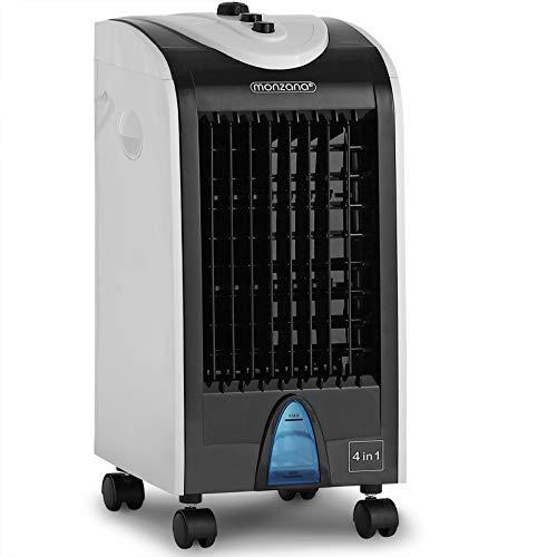 Monzana Aircooler 4in1 4 L Tank Luftfilter Luftkühler Klimagerät Ionisator 3 Stufen Luftbefeuchter Ventilator mobil