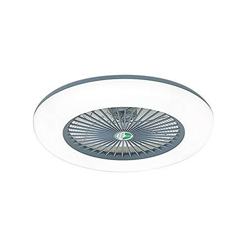 Lixada Deckenventilator mit Beleuchtung LED-Licht Einstellbare Windgeschwindigkeit Dimmbar mit Fernbedienung Ohne Batterie 36W Moderne LED-Deckenleuchte für Schlafzimmer Wohnzimmer Esszimmer,Grau