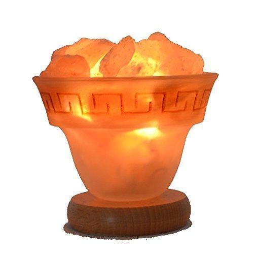 Home Trends and More Salzkristall Lampe | mit E14 Fassung | 1 Kg Salz-Brocken klein | Gute Einschlafhilfe für Kinder |Geschenk für jeden Anlass | Schlafzimmer-Salzlampe Licht - Feuer des Olymp Gr. S