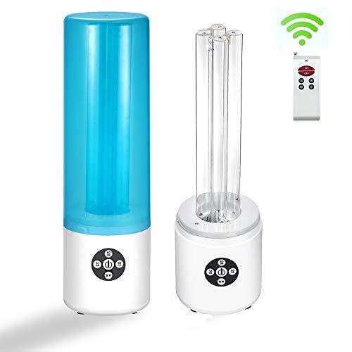 55W UV-keimtötende UV-Lampe mit Ozonsterilisation, mit dreistufigem Timing, Fernbedienung, mit Lampenschirm, kleiner Größe, bequemer Lagerung (Ozone)