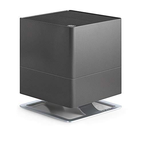 Stadler Form Luftbefeuchter Oskar, energiesparender Raumbefeuchter für Räume bis 50 m², Verdunster mit Abschalt-Automatik, dimmbare LEDs, sehr leise, titanium