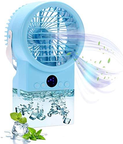 Mini Luftkühler Mobil Klimaanlage Klimagerät Mini Klimaanlage Persönliche Air Cooler Ventilator Leise Tischventilator Nebelventilator (Grau)