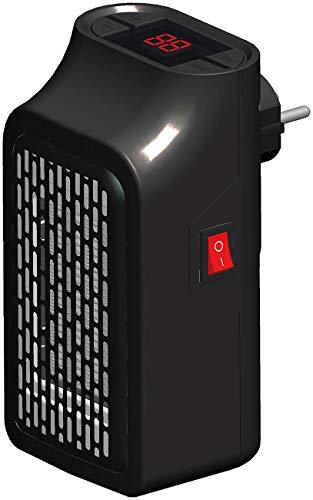Sichler Haushaltsgeräte Steckdosenheizer: Mini-Steckdosen-Heizlüfter mit Timer, 2 Geschwindigkeits-Stufen, 350 W (Mini Heizlüfter mit Thermostat)