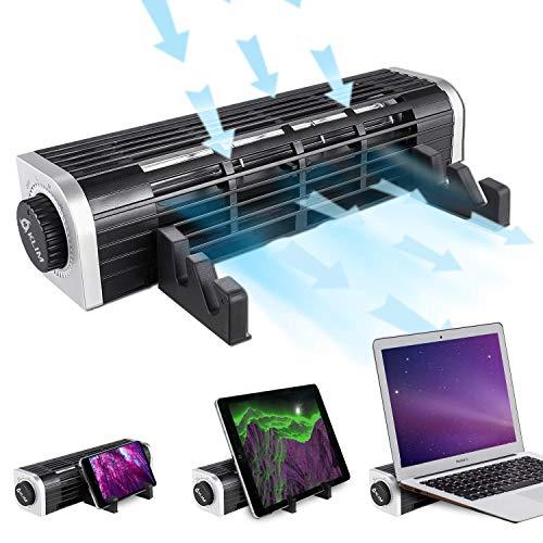 KLIM Zephyr + Hyper Kühler Dreifachfunktion Kleiner und leistungsstarker Taschenventilator + NEU 2021 + Leise & leistungsstark + Elegantes Design + Innovative Querstrom-Turbinenkühlung 3000 U/min.