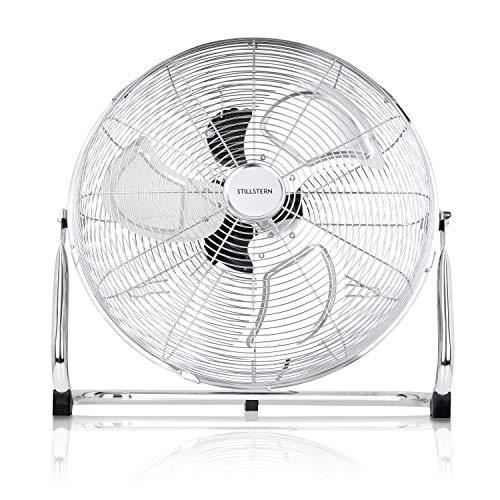 Stillstern Ventilator (45cm) 120 Watt stufenlos neigbar und hoher Luftdurchsatz, Luftkühler, Standventilator, Bodenventilator, Windmaschine, Raumkühler